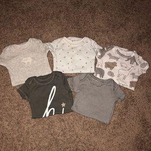 5 Pack Carter's Newborn Onesies